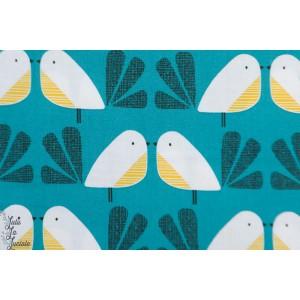 Popeline Birds Emerald NEST 1410 nesting bird dashwood studio oiseau