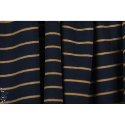 Interlock Bio Rayé Marron Bleu rayure jersey cpauli marinière marin