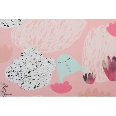 Jersey bio Story of roo Seascape  enfant fille rose doux poétique