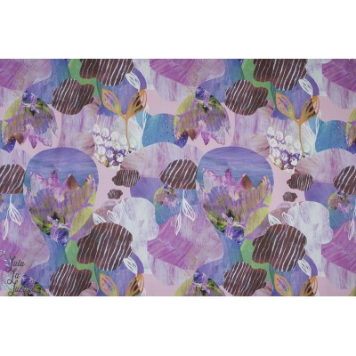Jersey Bio Story of Roo Underwater Lilas mode femme aquarelle mer violet