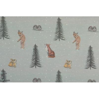 Sweet Sweat Hilco animaux forêt lapin renard oiseau hiver