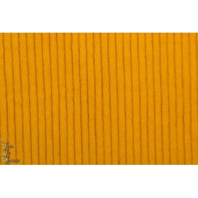 Velours à grosse cote Hilco moutarde jaune senf