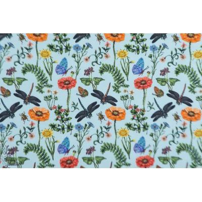 Jersey Champs de fleurs bleu et libellule Stenzo bleu nature campagne