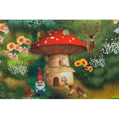 Panneau jersey Digital la maison des nains Stenzo champignon animaux rétro