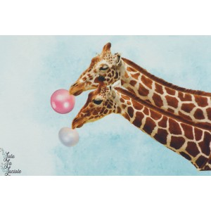 Panneau jersey Girafes et buble gum Stenzo