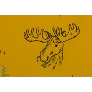 Jersey Bio Bloome Funny Moose Ochre renne camada, jaune moutarde