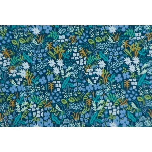 Popeline Cotton Steel Blue Meadow