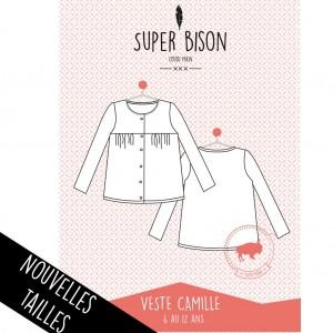 Patron couture vete SUPER BISON CAMILLE 6/12ans fille, débutant