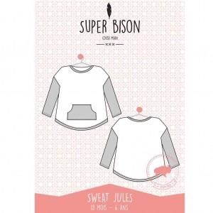 Patron Sweat enfant SUPER BISON JULES 18mois à 6 ans