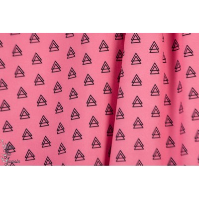 Softshell hilco Souple Triangles rose graphique impermeable blouson