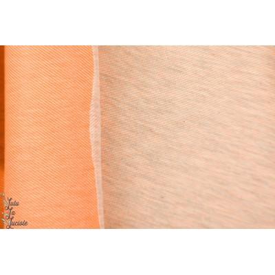 Sweat Neon Orange gris chiné double face