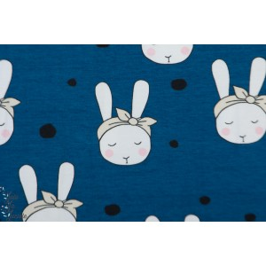 Jersey bio Tygdrômmar Bunnie with Bow bleu lapin noeud enfant fille layette