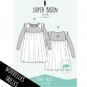 Patron Robe fille  SUPER BISON ALICE 6/12 ans