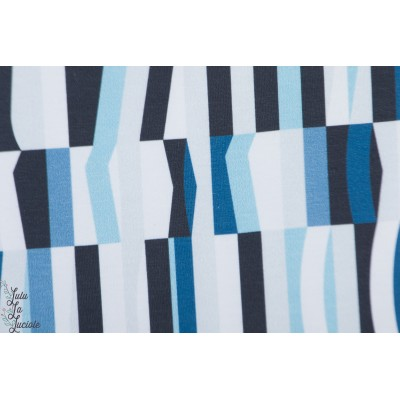 Summersweat Bio Lillestoff Zadar graphique bleu mode femme