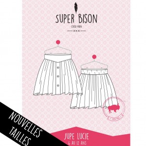 Patron  couture Jupe fille  SUPER BISON Lucie 6/12 ans
