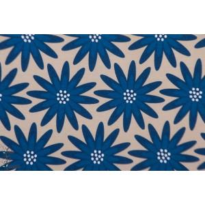 Jersey Bio Big Blues lillestoff fleur bleu vintage rétro graphique voila