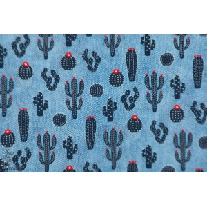 Jean hilco Wild West popeline cactus enfant bleu