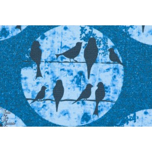 Sweatshirt Léger Birds Bleu