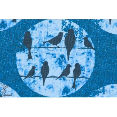 Sweatshirt Léger Birds Bleu, oiseaux sur un fil,