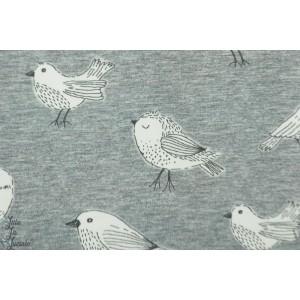 Jersey hilco Mini Baby Oiseau graphique gris bébé layette ottobre