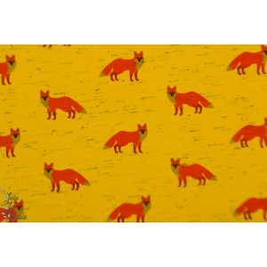 Jersey fancy fox moutarde animaux graphique renard