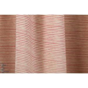 Jersey bio  rayé Mini Streifen rot - mini Rayure SUSAlabim Lillestoff