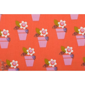 Popeline Dashwood AMELIE  1428 pot fleur graphqiue jilly studio