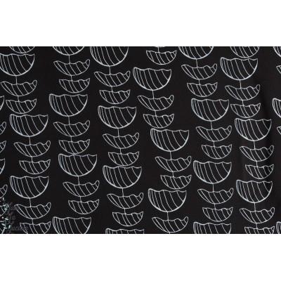 tissu Jersey Bio lillestoff  Liviata, raxn, femme, noir et blanc