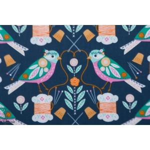 Popeline Dashwood STITCH 1449 - Oiseaux plaid couture bethan janine