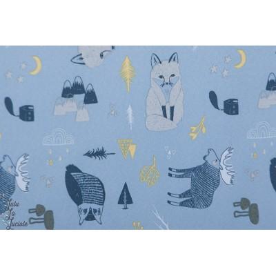 Softshell Animaux de la forêt manteau chaud animaux renard