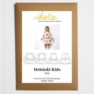 Patron robe Ikatee HELSINKI  fille 3/12 ans
