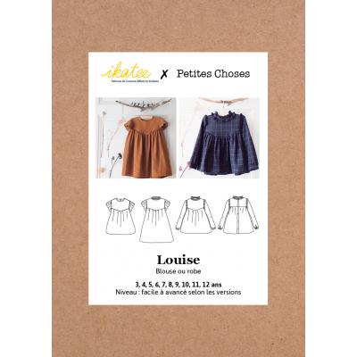 Patron Robe blouse Louise enfant fille   3/12  Ikatee  & Petites Choses