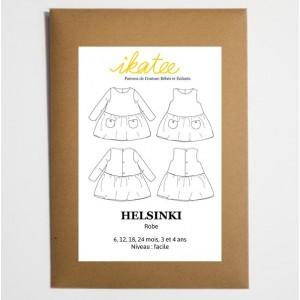 Pochette patron Helsinki robe Bébé fille 6m / 4 ANS IKATEE