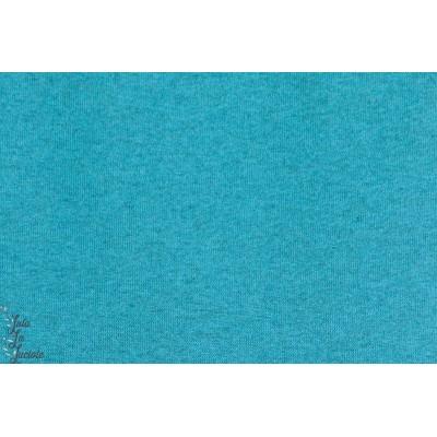 Kuschelsweat bio turquoise Chinée, sweat chaud épais, molletonné Lillestoff
