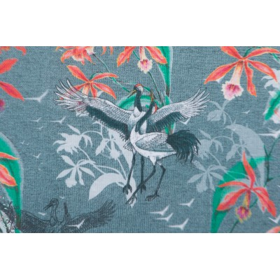 Modal Tanz Der Kraniche Lillestoff grue japon mode femme tante gisi viscose
