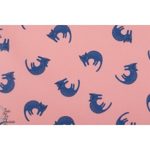 Laminé Bio Sweet Cats Cloud9 mat - chat imperméable fille rose