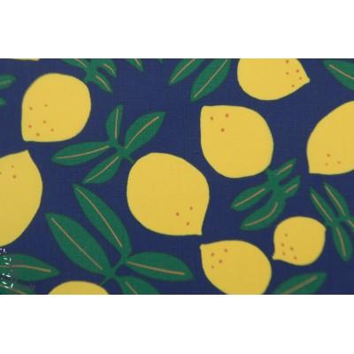 Laminé Bio Lemons on repeat Cloud9 imperméable citron graphique