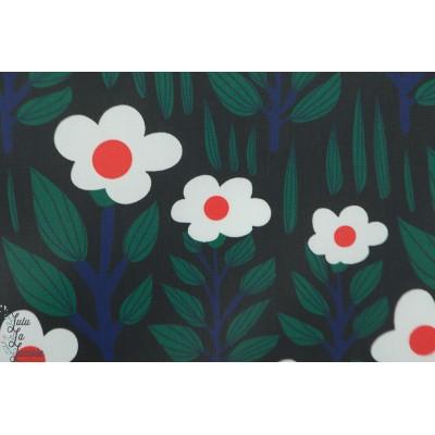 Laminé Bio Cloud9 branch Forest imperméable ciré fleur rétro catimini vert