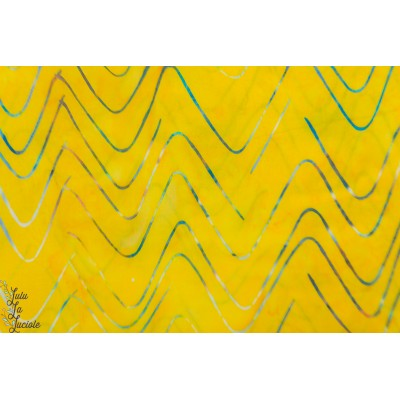 Batik hoffman Citrus 523 graphique jaune