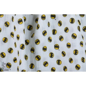 Double Gaze Batman Logo Camelot Fabric warner bébé, layette bambino