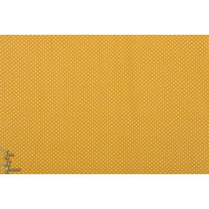 Jersey Stenzo pois mini blanc fond jaune