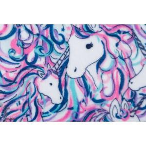 Minky Be a Unicorn licorne minky velours doux chaud