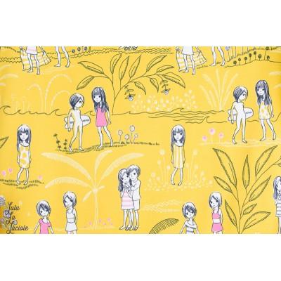 Jersey Bio Fillettes en Eté Sommermädchen Design: Susanne Bochem/ SUSAlabim pour lillestoff.