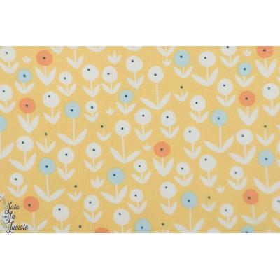 Popeline Marrigold Pond Life Dear stella 1017 fleur jaune