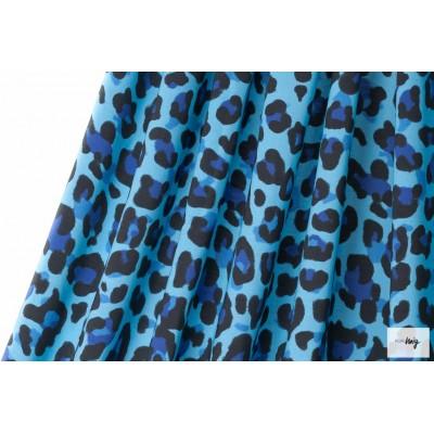 Modal LalaLeo Turqusoise Lillestoff léopard bleu enemenemeins
