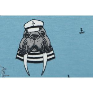 Sweat Bio Bloome Captain Walrius Bloome Copenhagen Bleu clair