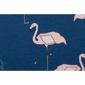 jersey bio Flamingo Dark Blue elvelyckan design flamand rose