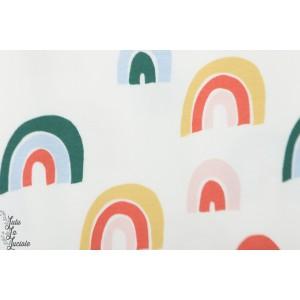 jersey bio Rainbow Crême elvelyckan design arc en ciel rétro vintage graphique enfant