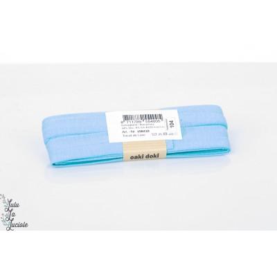 Biais jersey de Luxe 104 bleu clair