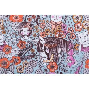 Jersey Bio Wunderblumen Helblau Lillestoff SUSAlabim